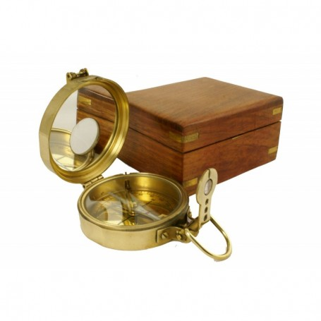 Brújula de latón con inclinometro en caja