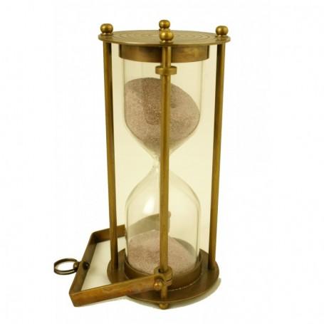 Reloj de arena náutico en latón de colgar o sobremesa