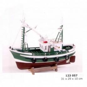 Maqueta naval de barco pesquero artesanía náutica