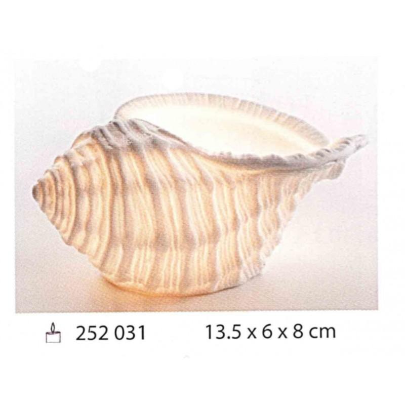 Caracola marina de porcelana porta vela