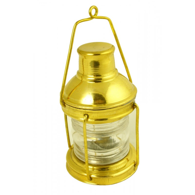 Lámpara náutica de fondeo en latón de miniatura