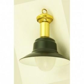 Miniatura náutica de lámpara de pescador en aluminio y latón