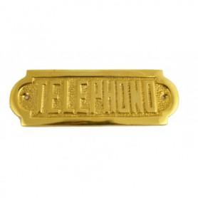 Placa náutica de latón en telephono