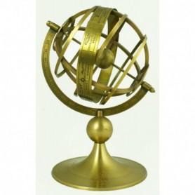 Astrolabio o esfera armilar en latón