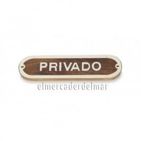 Placa náutica de madera Privado