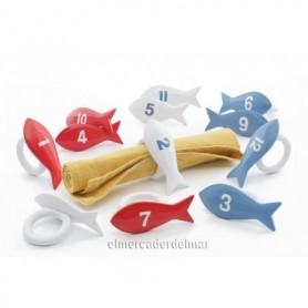 Servilleteros náuticos en forma de pez