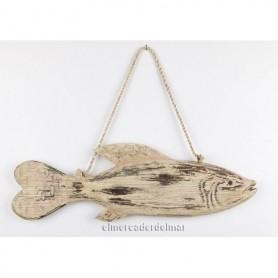 Colgante náutico pez en madera