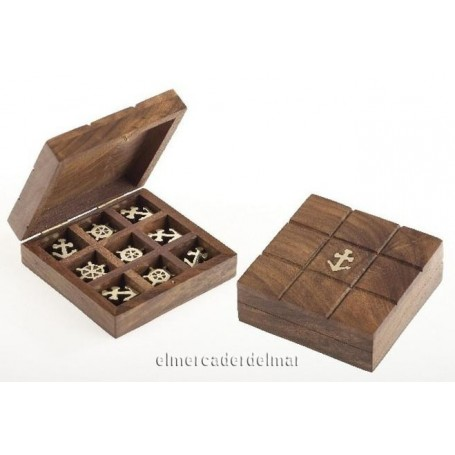 Caja náutica madera tres en raya