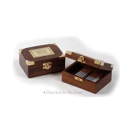 Caja náutica madera para cigarros