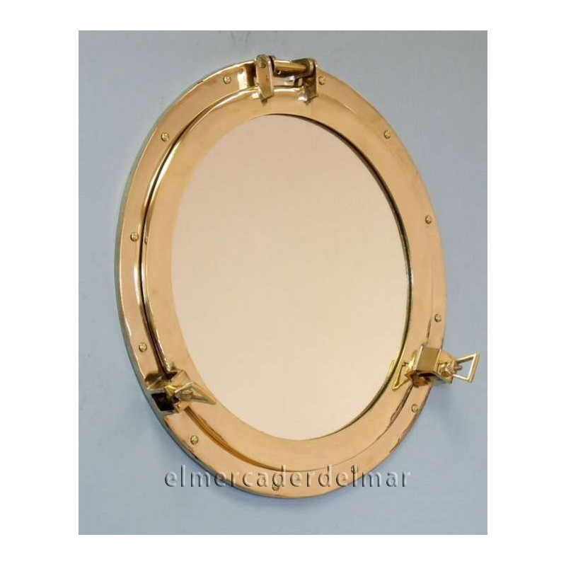 Ojo de buey n utico con espejo en lat n for Espejo ojo de buey