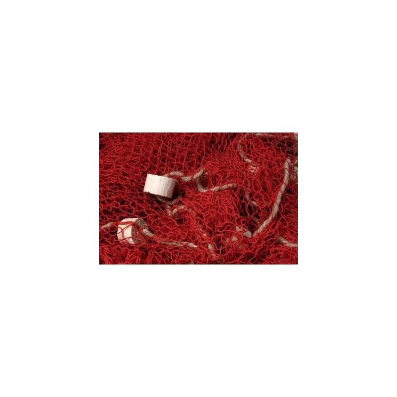 Red pesca marina roja decorativa