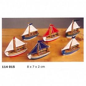 Velero miniatura artesanía náutica