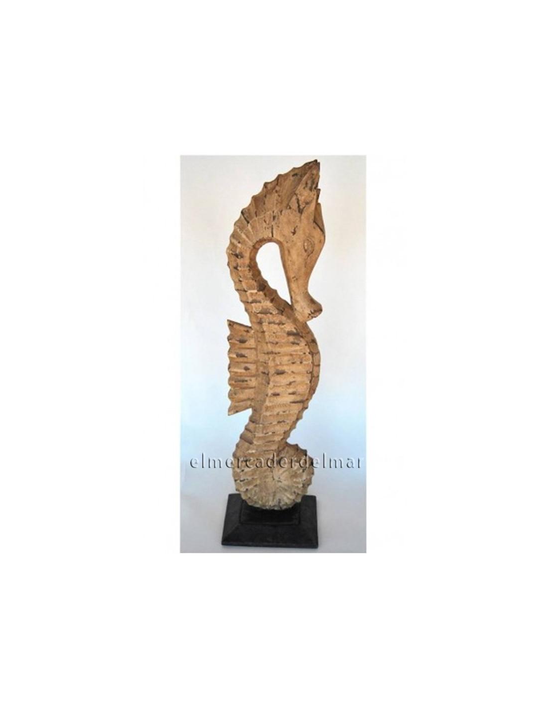 Caballito de mar madera tallada - Caballito de madera ikea ...