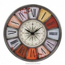 Reloj náutico rosa de los vientos