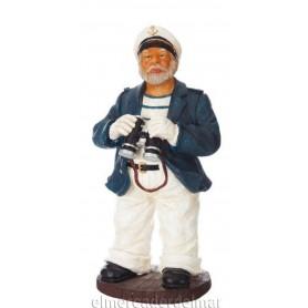 Figura marina de capitán con prismáticos