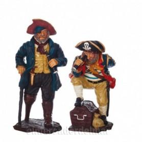 2 figuras náuticas de piratas