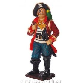 Personaje pirata con loro