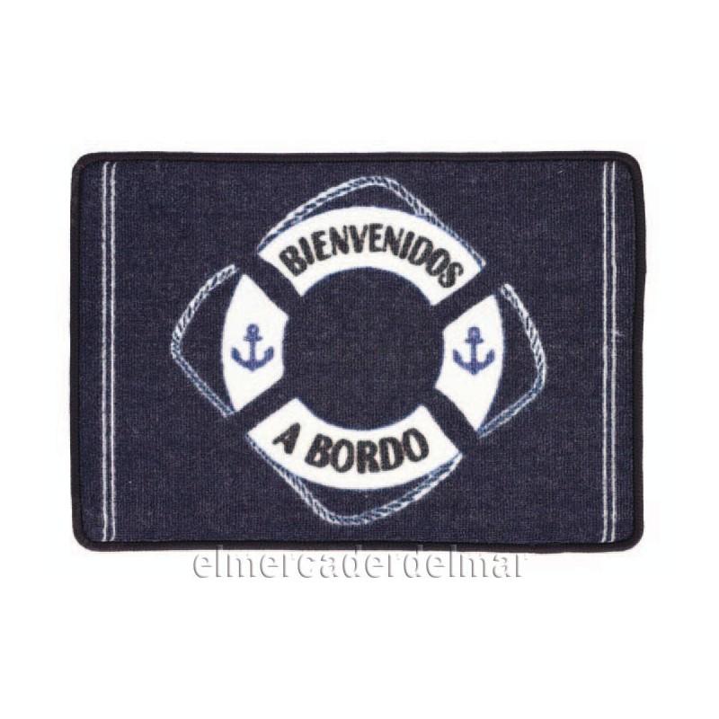 Alfombra náutica con salvavidas