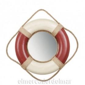 Salvavidas marinero con espejo