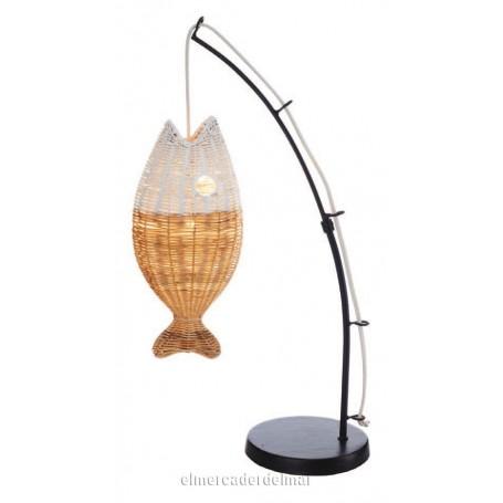Lámpara marinera de pez pescado