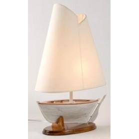 Lámpara marinera barca con pantalla vela
