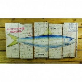 Tabla marinera con dibujo sardina