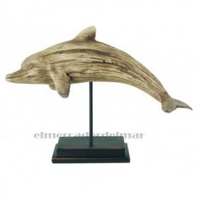 Delfín de resina con base.