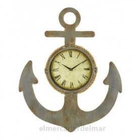 Ancla marinera con reloj