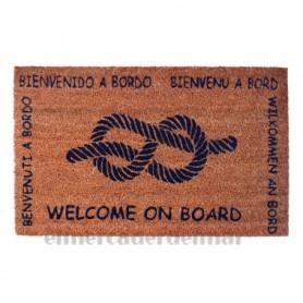 Felpudo bienvenidos nudo marinero