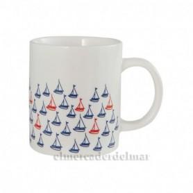 Mug marinero veleros