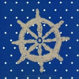 servilleta náutica con timón