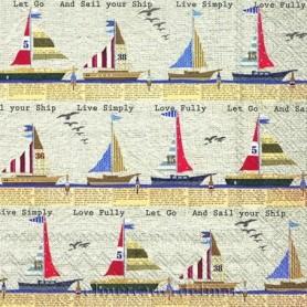 servilletas marineras veleros