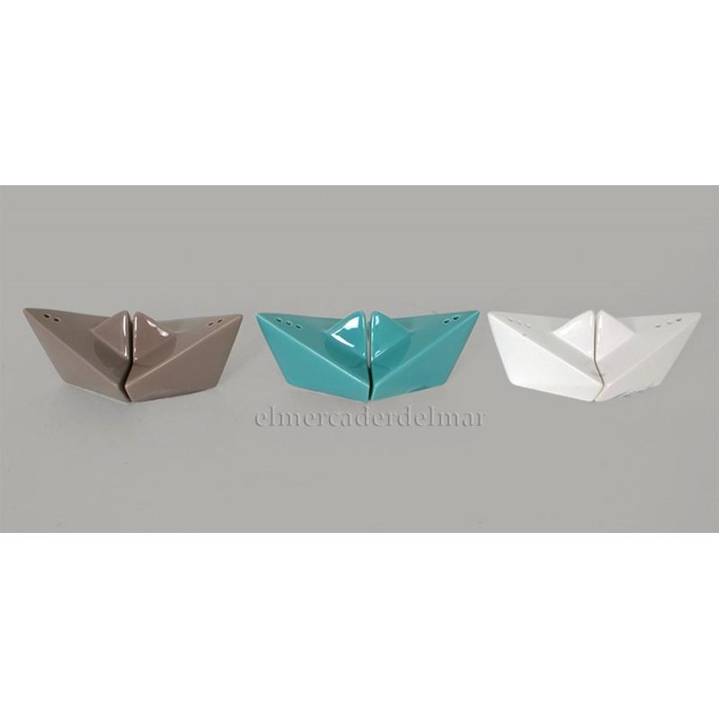 Salero pimentero barco origami