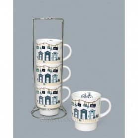 Set cuatro tazas marineras