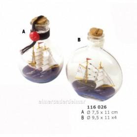 Barco velero en botella