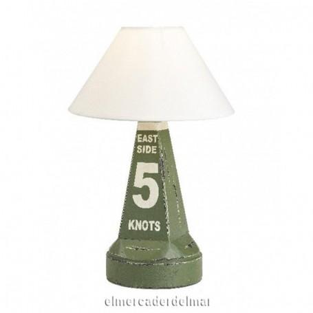 lámpara náutica baliza señalización verde