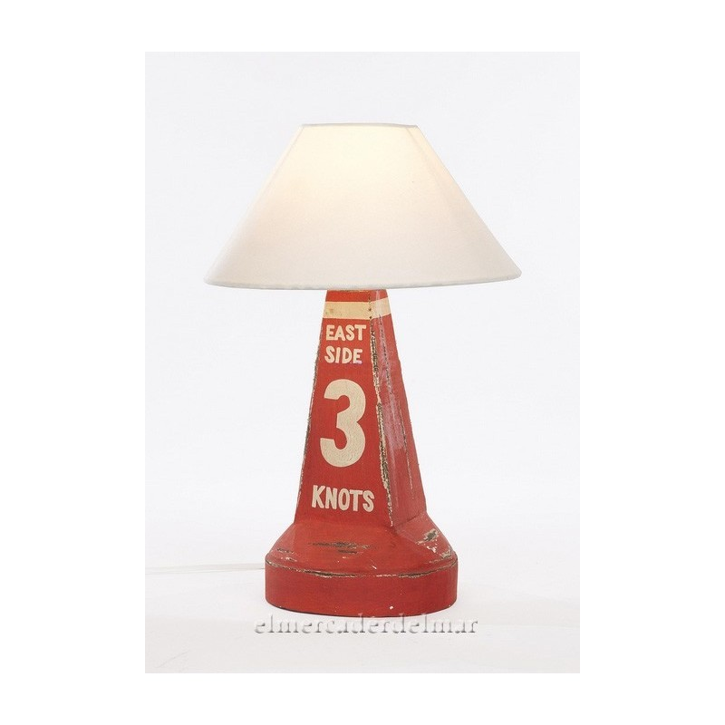 Lámpara baliza náutica de señalización en rojo