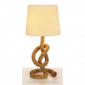 Lámpara de mesa marinera con cabo náutico