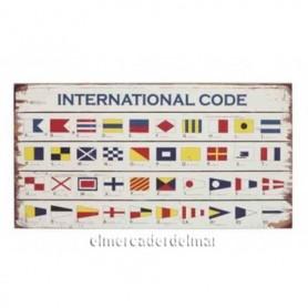 Placa náutica códigos de señales marinas