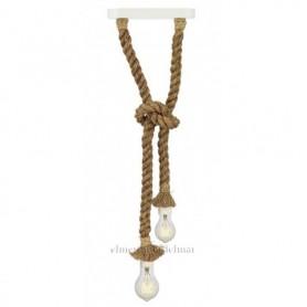Lámpara colgante de cuerda