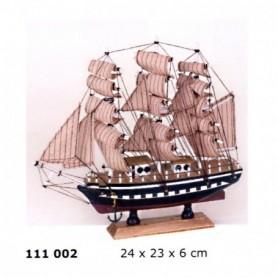 Maqueta de velero bergantín de tres palos
