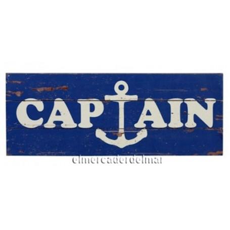 Placa náutica de madera