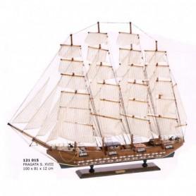 Maqueta de velero Fragata cuatro palos siglo XVIII