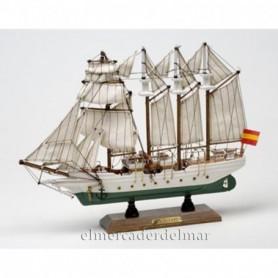 Maqueta naval del velero Juan Sebastián Elcano