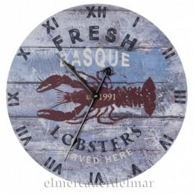 Reloj marinero con langosta