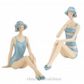 Figuras marineras bañistas años treinta