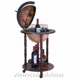 Mueble bar globo terrestre vintage