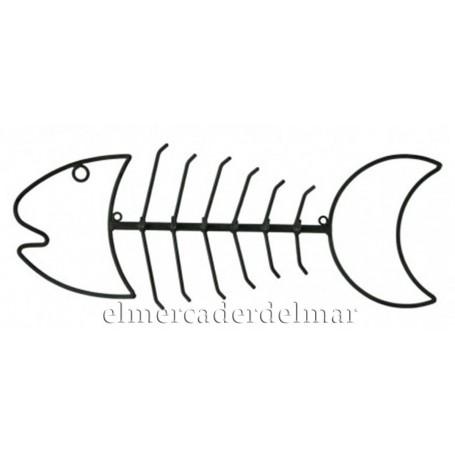 Colgador espina de pez marino