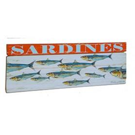 Cuadro de madera Banco de Sardinas