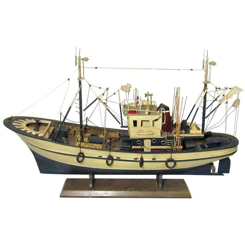 Maqueta de pesquero del Cantábrico